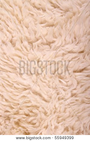 White Lambskin As Background, Vertical