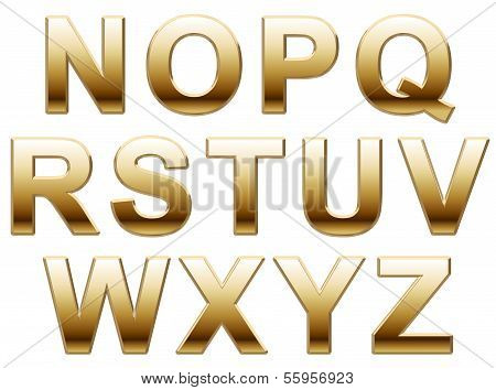 Shiny Gold Capital Letters