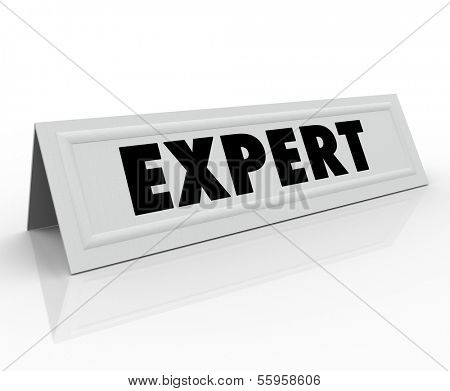 Expert Word Name Tent Card Expertise Experience
