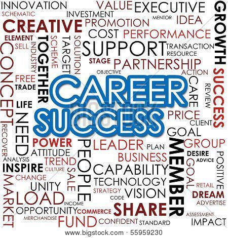 Career Success Word Cloud