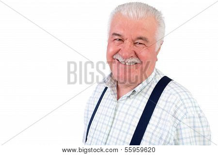 Smiling Jovial Senior Man