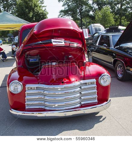 Red Chevy Antique Pick Up Truck