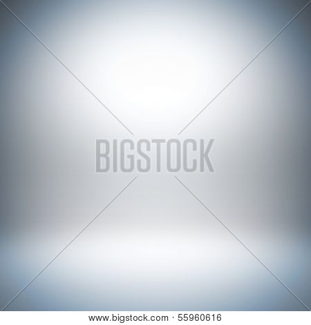 A 3d illustration blank template layout of empty white background with light bright at wall and floor for insert anything.