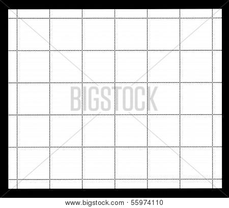 Blank stamp label sheet