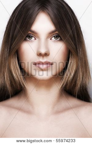 Portrait of young girl with healthy skin