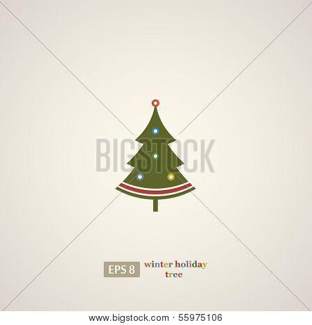 Winter holidays decoration tree.
