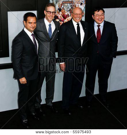 NEW YORK-DEC 17: (L-R) Producers Riza Aziz, Joey McFarland, Irwin Winkler and Joe Low attend the premiere of