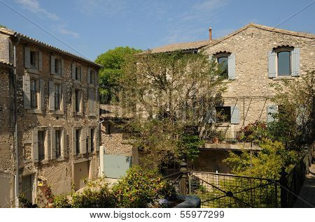 France the small village of Eygalieres in Provence poster