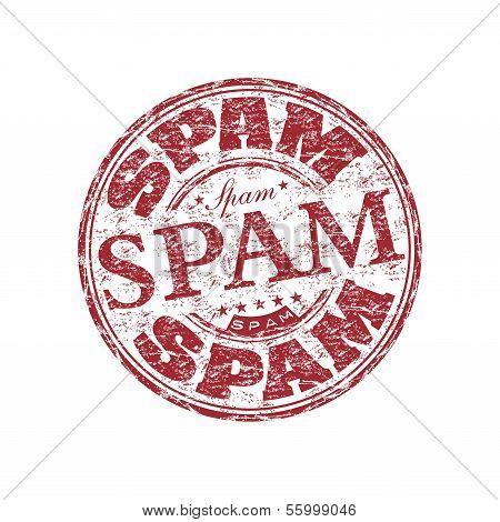 Spam grunge rubber stamp