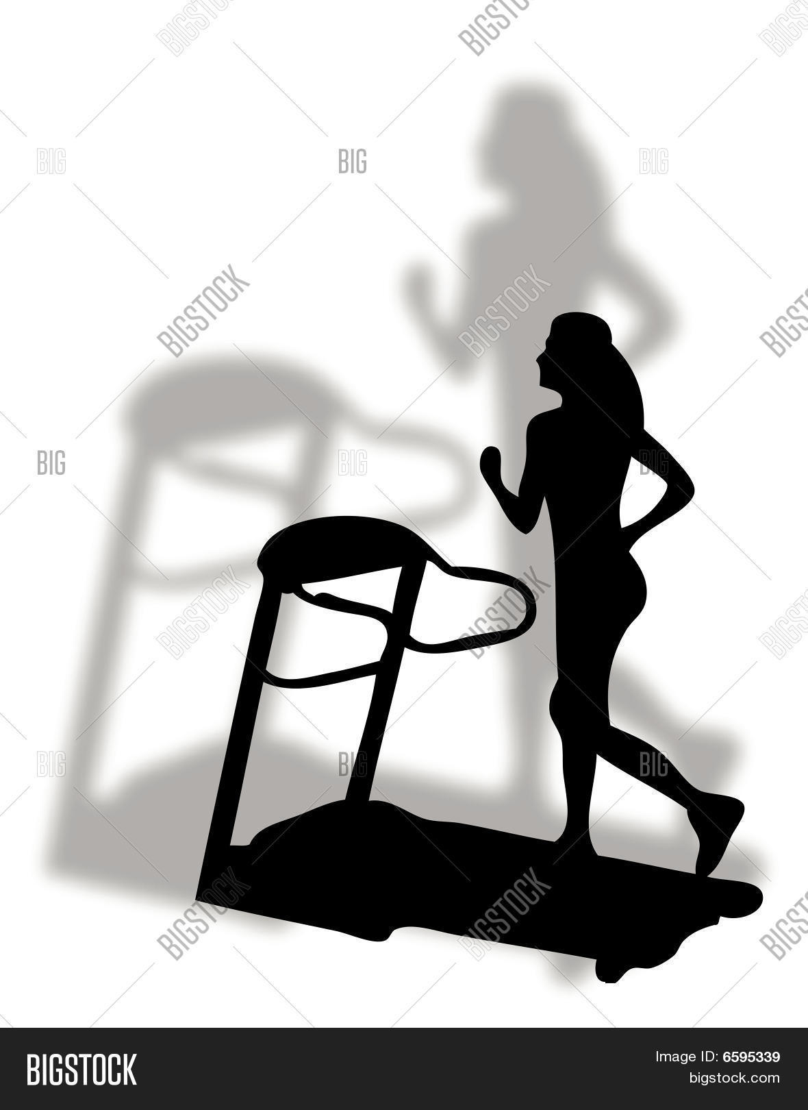 Fitness Tapis Roulant Vector Photo Free Trial Bigstock