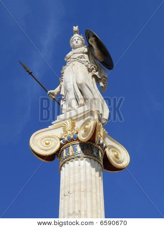 Statue Of Athena In Greece