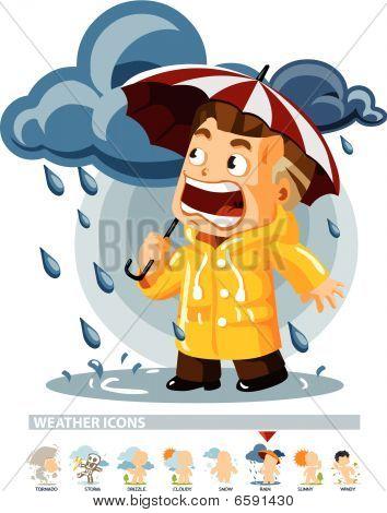 Rain. Weather Icon