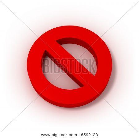 Prohibition sign 3D