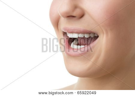 Open Mouth Of Woman