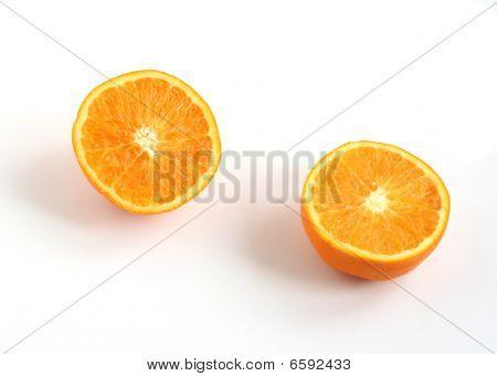 Orange Cut In Two