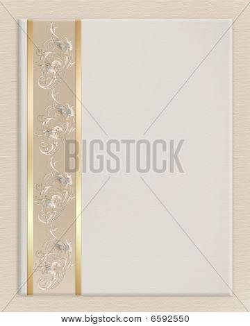 Wedding invitation border elegant