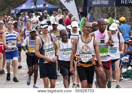 Many Spectators And Runners At Comrades Marathon