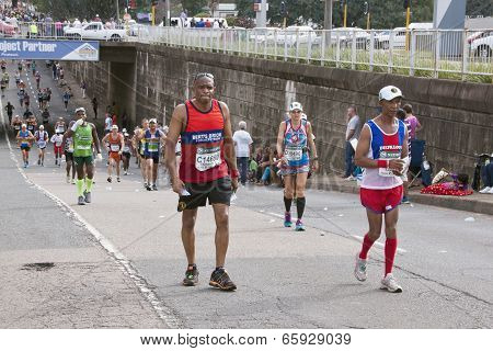 Competitors Running In Comrades Marathon In South Africa