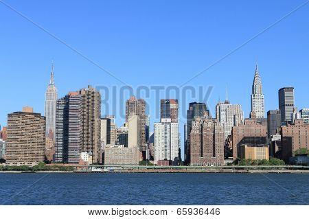 Midtown Manhattan skyline on a clear day, New York City
