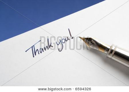 Fountain Pen With Thank You Note