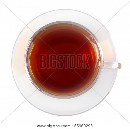 Glasses Cup With Black Tea