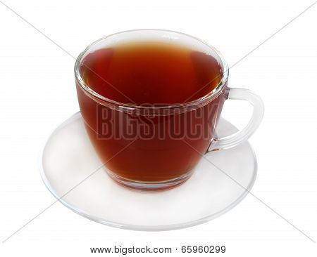 Cup And Saucer With Black Tea