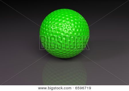 Golfball green on grey