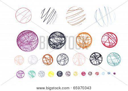 Hand Drawn Grunge Circles