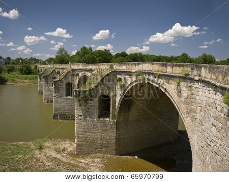 Byala Bridge is an arch bridge over the Yantra River in northern Bulgaria poster