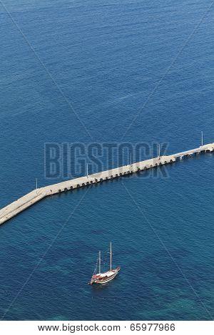 Yacht At Blue Sea