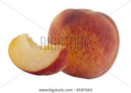 peach whole and sliced