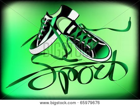 Beautiful Pair Of Green Sneakers