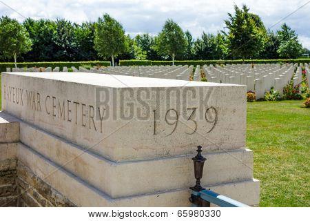 Omaha Beach, Normandy,France.- August 9: American War Cemetery on August 9, 2013. American War Cemetery at Omaha Beach, Normandy (Colleville-sur-Mer ) France.