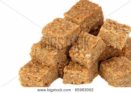 Oat And Syrup Flapjacks On White