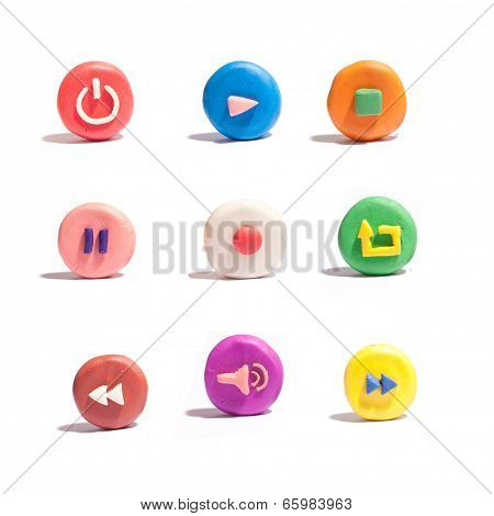 Colorful Media Icons