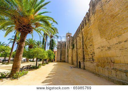 Alcazar De Los Reyes Cristianos En Het Landschap Van Cordoba, Spanje