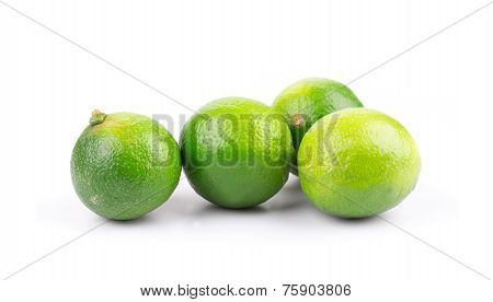 Citrus lime fruit isolated on white background closeup poster