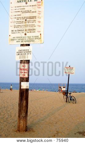 Signs On Beach