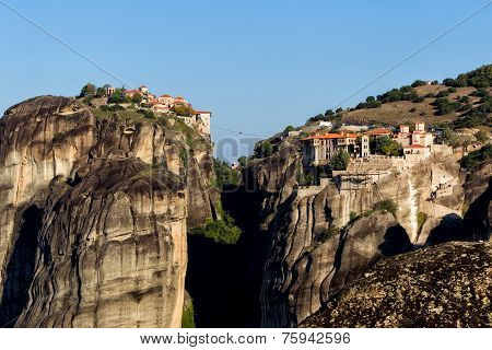 The Holy Monastery Of Varlaam And The Holy Monastery Of Great Meteoron, In Greece.