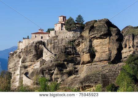 The Holy Monastery Of Varlaam, In Greece. The Holy Monastery Of Varlaam Is The Second Largest Monast