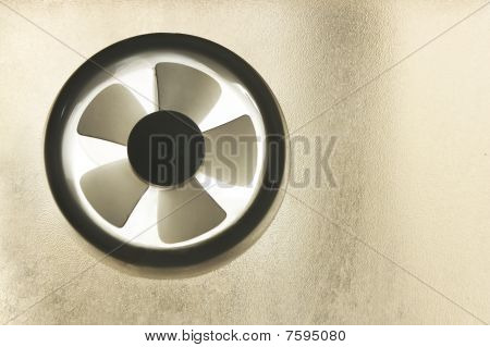 Window Exhaust Fan in a soft light from the background poster