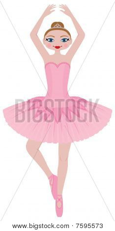 Cute Ballerina in Pink Tutu