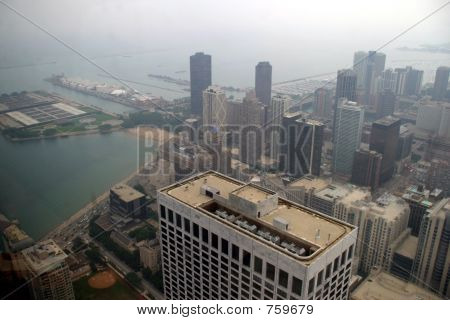 Chicago - South view and Navy Pier
