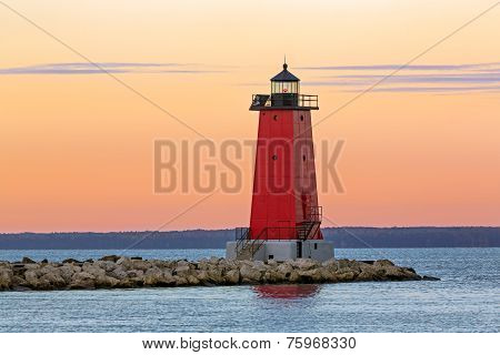 Morning At Manistique Lighthouse
