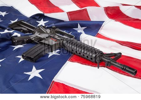 Weapon And Flag
