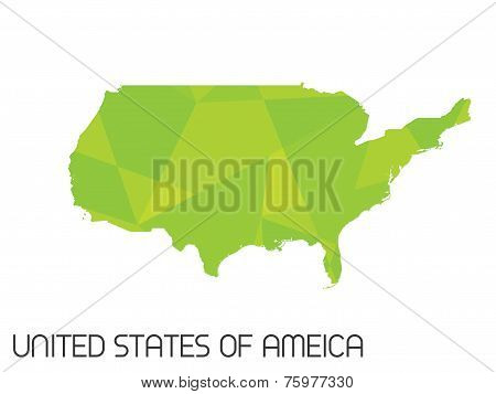 Set Of Infographic Elements For The Country Of United States Of America