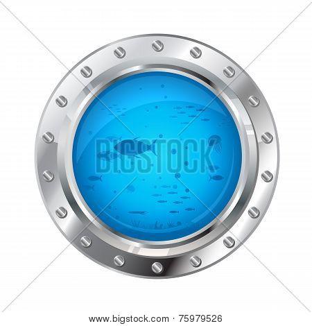 Porthole With Underwater Life