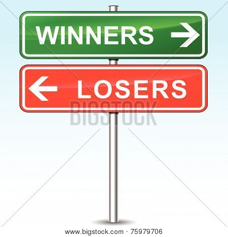 Winners And Losers Directional Sign