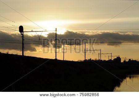 Railroad-sunset