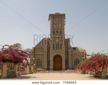 Broken Church after Earthquake